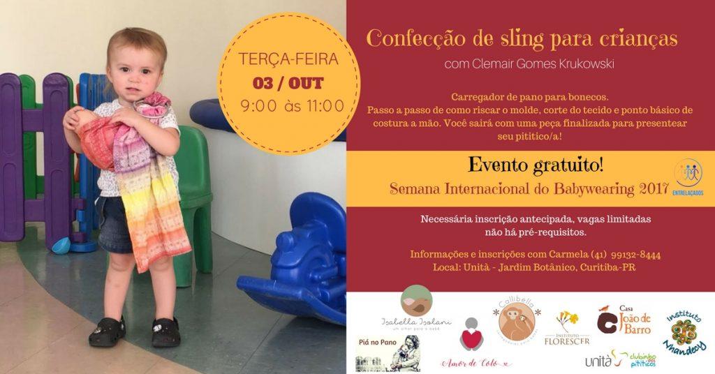 Confecção de sling para crianças