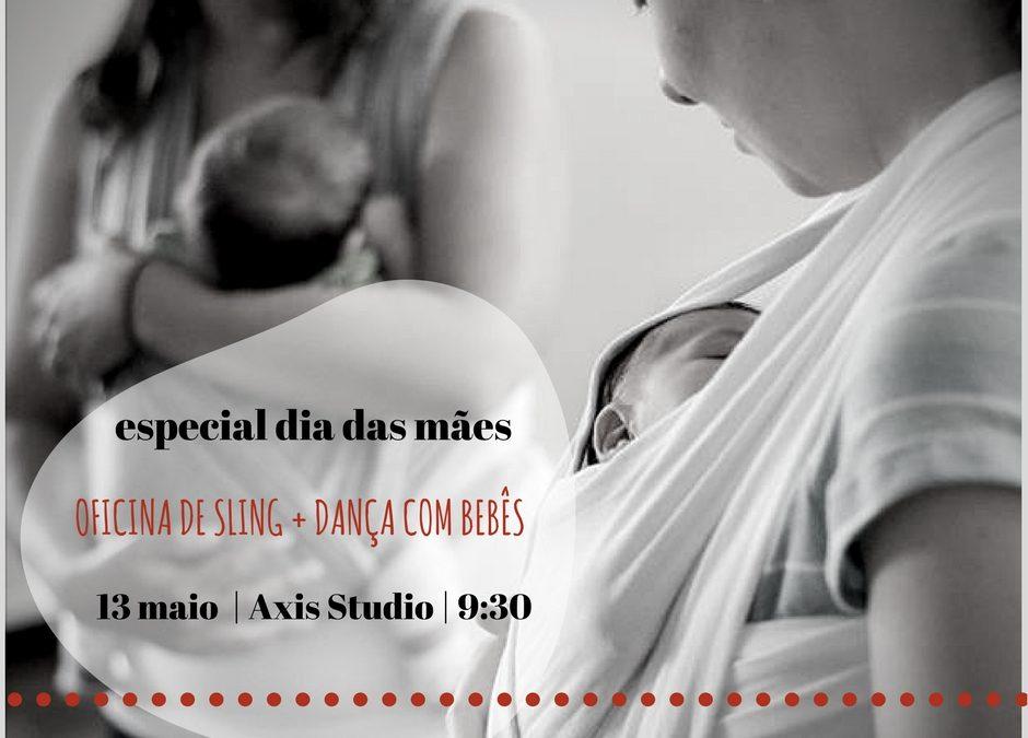 Oficina de sling + dança com bebês
